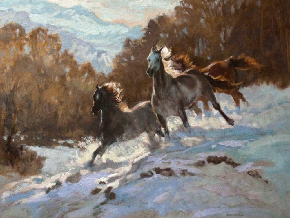konfigurieren des Kunstdrucks in Wunschgröße Rocky Mountain Spirit von Bonnie, Karen