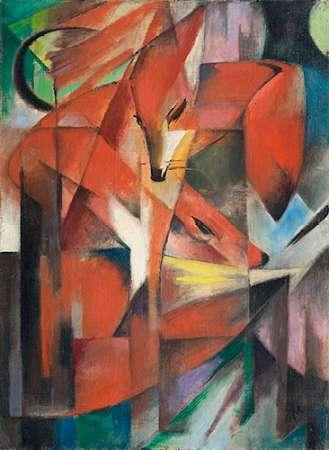 konfigurieren des Kunstdrucks in Wunschgröße The Fox, 1913 von Marc, Franz