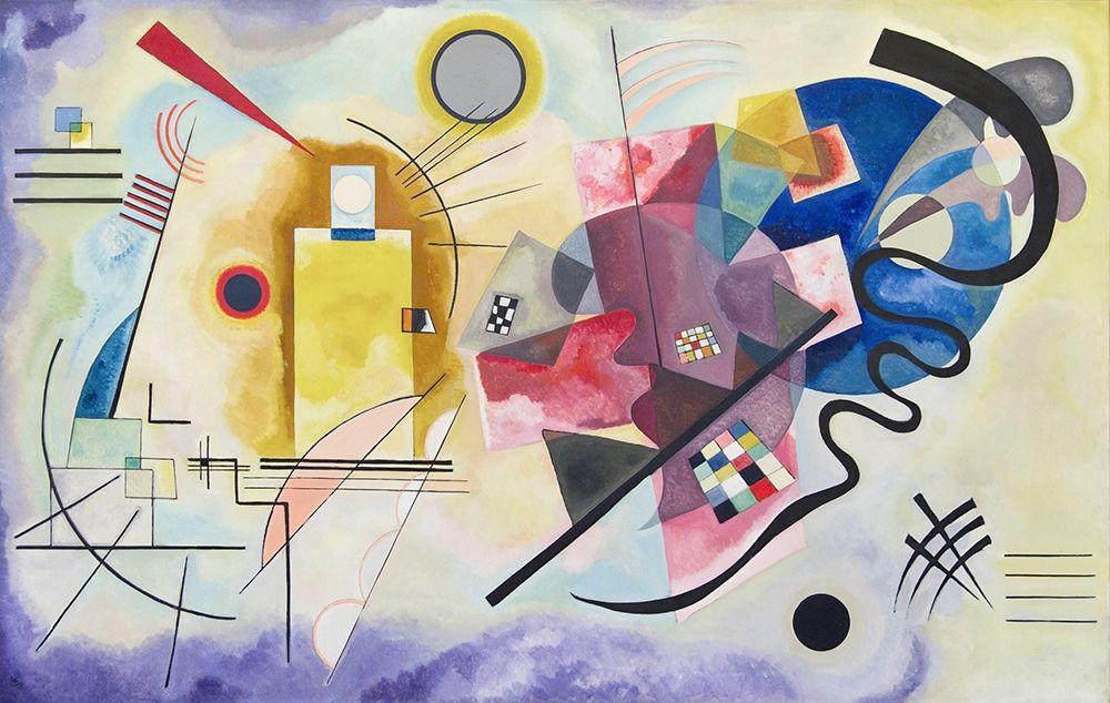 konfigurieren des Kunstdrucks in Wunschgröße Yellow-Red-Blue, 1925 von Kandinsky, Wassily