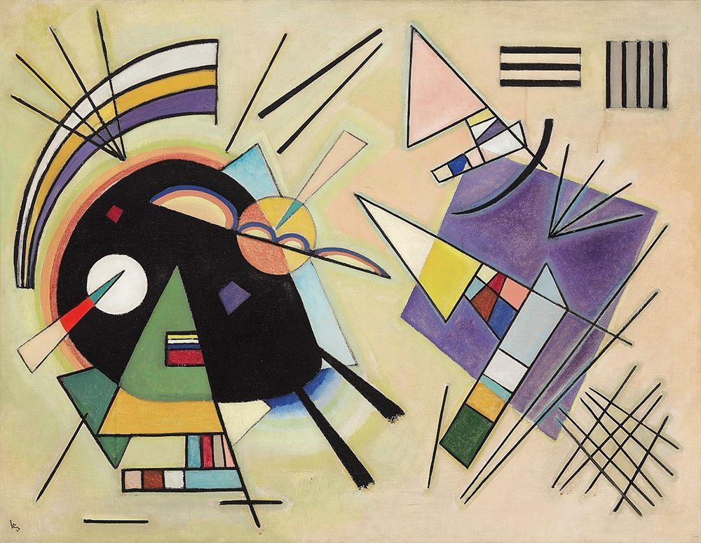 konfigurieren des Kunstdrucks in Wunschgröße Black and Violet, 1923 von Kandinsky, Wassily