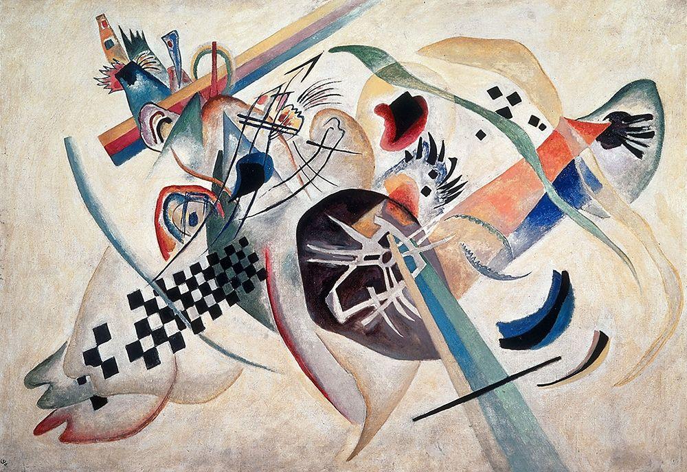 konfigurieren des Kunstdrucks in Wunschgröße Composition 224 (On White), 1920 von Kandinsky, Wassily