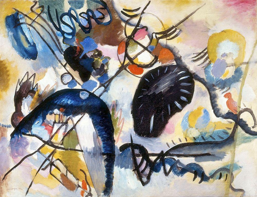 konfigurieren des Kunstdrucks in Wunschgröße Black Spot 1, 1912 von Kandinsky, Wassily