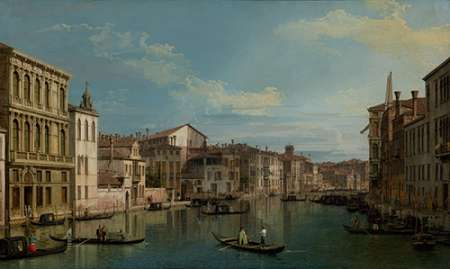The Grand Canal in Venice from Palazzo Flangini to Campo San Marcuola von Canaletto <br> max. 152 x 91cm <br> Preis: ab 10€