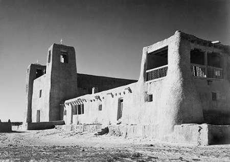 konfigurieren des Kunstdrucks in Wunschgröße Church, Acoma Pueblo, New Mexico - National Parks and Monuments, ca. 1933-1942 von Adams, Ansel
