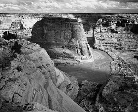 konfigurieren des Kunstdrucks in Wunschgröße View of valley from mountain, Canyon de Chelly, Arizona - National Parks and Monuments, 1941 von Adams, Ansel