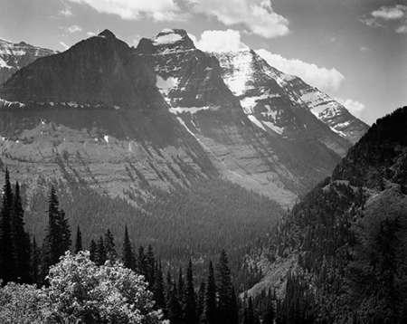 konfigurieren des Kunstdrucks in Wunschgröße Snow Covered Mountains, Glacier National Park, Montana - National Parks and Monuments, 1941 von Adams, Ansel