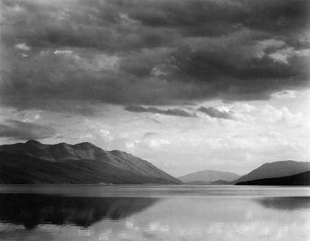 konfigurieren des Kunstdrucks in Wunschgröße Evening, McDonald Lake, Glacier National Park, Montana - National Parks and Monuments, 1941 von Adams, Ansel