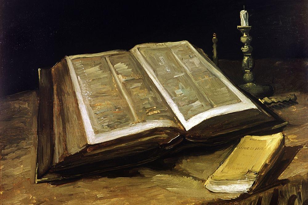 konfigurieren des Kunstdrucks in Wunschgröße Custom Crop - The Bible: Still Life von Van Gogh, Vincent