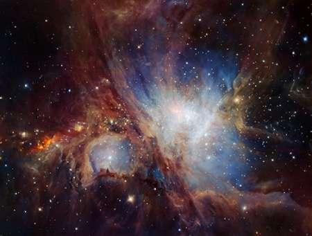 konfigurieren des Kunstdrucks in Wunschgröße Deep infrared view of the Orion Nebula from HAWK-I von Einzelbilder