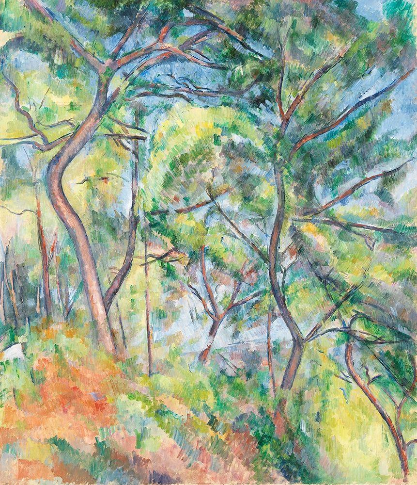 konfigurieren des Kunstdrucks in Wunschgröße Sous-Bois von Cezanne, Paul