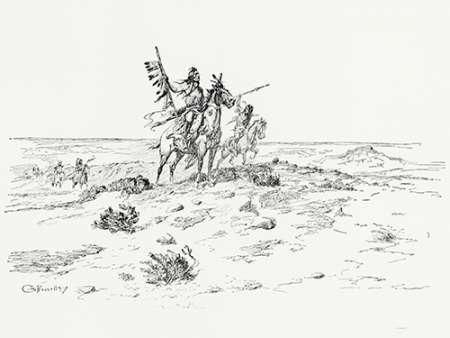 konfigurieren des Kunstdrucks in Wunschgröße The Indian of the Plains as he was, 1899 von Russell, Charles
