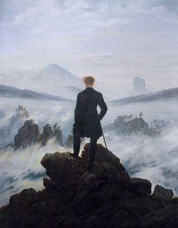 Wanderer Above the Sea of Fog von Friedrich, Caspar David <br> max. 135 x 170cm <br> Preis: ab 10€