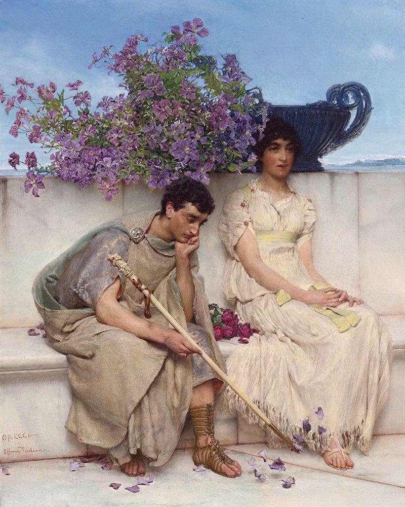konfigurieren des Kunstdrucks in Wunschgröße An Eloquent Silence von Alma-Tadema, Sir Lawrence