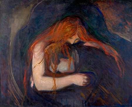 konfigurieren des Kunstdrucks in Wunschgröße Vampire, 1895 von Munch, Edvard