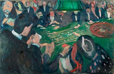 At the Roulette Table in Monte Carlo, 1892 von Munch, Edvard <br> max. 61 x 41cm <br> Preis: ab 10€