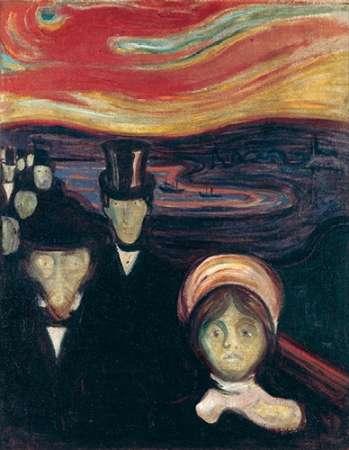 konfigurieren des Kunstdrucks in Wunschgröße Anxiety, 1894 von Munch, Edvard