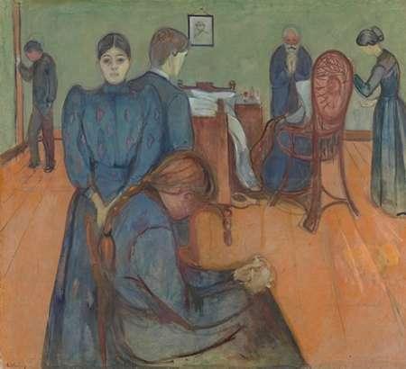 konfigurieren des Kunstdrucks in Wunschgröße Death in the Sickroom, 1893 von Munch, Edvard