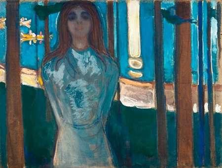 konfigurieren des Kunstdrucks in Wunschgröße The Voice / Summer Night, 1896 von Munch, Edvard