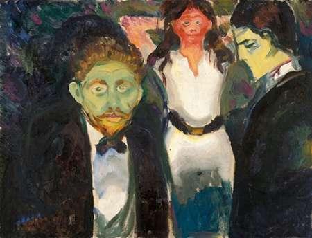 konfigurieren des Kunstdrucks in Wunschgröße Jealousy, 1907 von Munch, Edvard