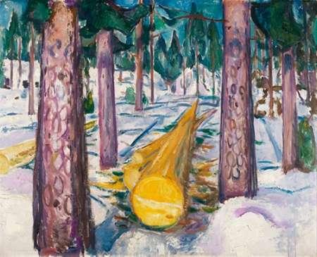 konfigurieren des Kunstdrucks in Wunschgröße The Yellow Log, 1912 von Munch, Edvard