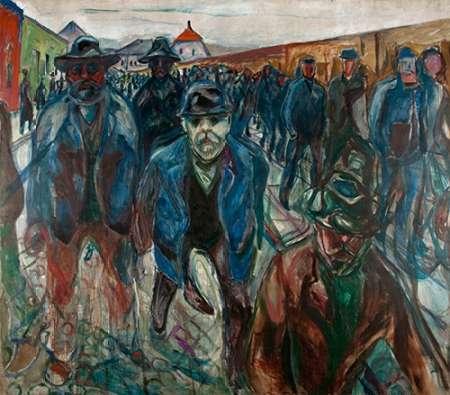 konfigurieren des Kunstdrucks in Wunschgröße Workers on their Way Home, 1913-1914 von Munch, Edvard