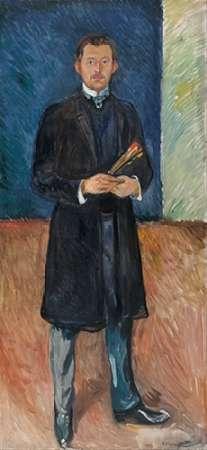 Self-Portrait with Brushes, 1904 von Munch, Edvard <br> max. 33 x 74cm <br> Preis: ab 10€