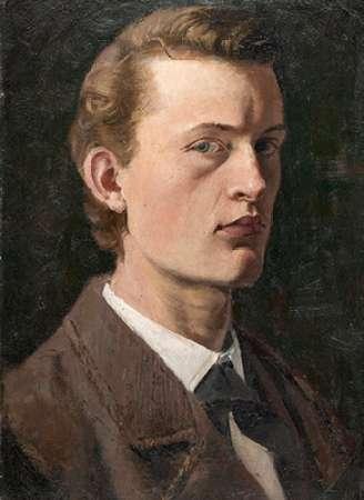 Self-Portrait, 1882 von Munch, Edvard <br> max. 38 x 53cm <br> Preis: ab 10€