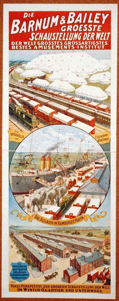 konfigurieren des Kunstdrucks in Wunschgröße Barnum and Bailey Groesste Schaustellung Der Welt - 1900 von Hollywood Photo Archive