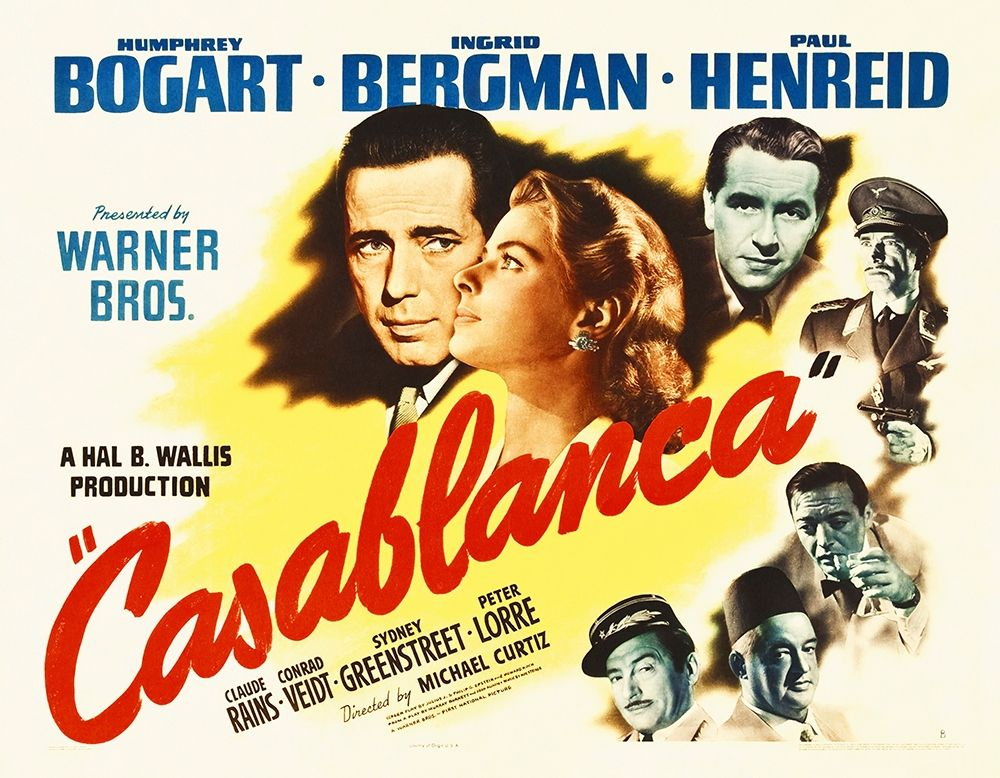 konfigurieren des Kunstdrucks in Wunschgröße Casablanca  Poster von Hollywood Photo Archive