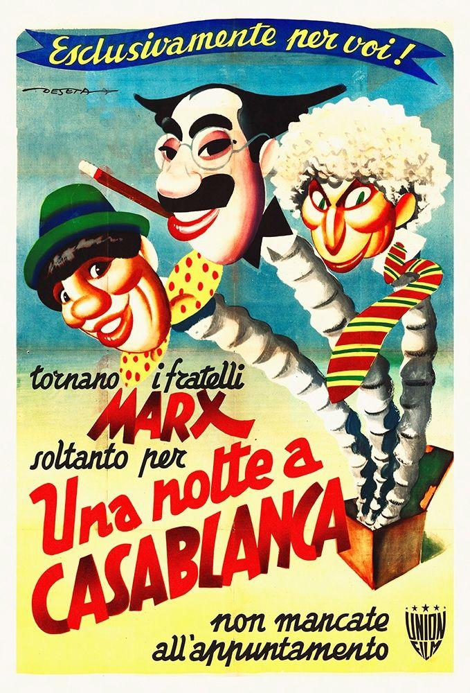 konfigurieren des Kunstdrucks in Wunschgröße Marx Brothers - Italian - A Night in Casablanca 02 von Hollywood Photo Archive