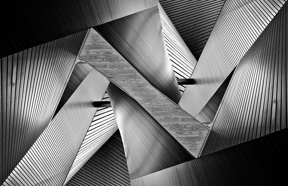konfigurieren des Kunstdrucks in Wunschgröße Metal Origami von Tajima, Koji