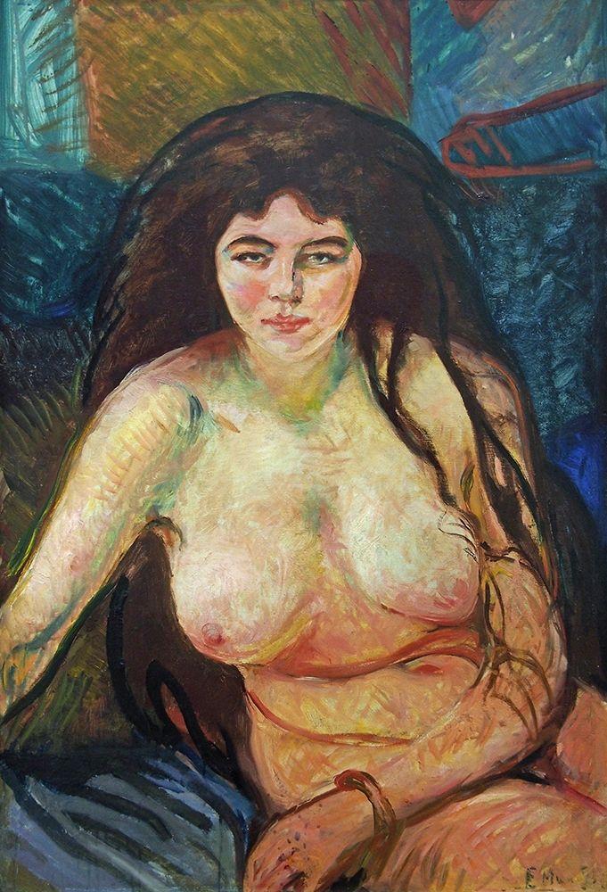 konfigurieren des Kunstdrucks in Wunschgröße Female Nude; The Beast, 1902 von Munch, Edvard