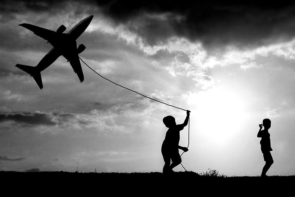 konfigurieren des Kunstdrucks in Wunschgröße Fly my Plane von trijoko
