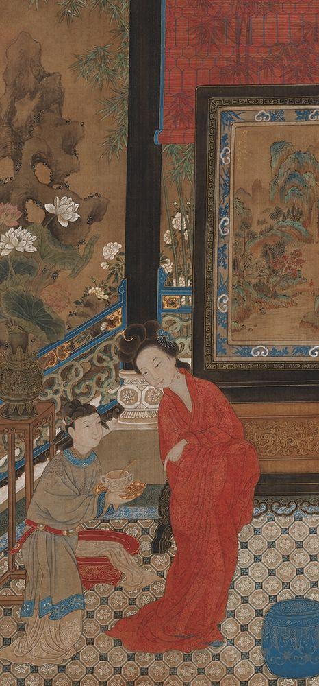 konfigurieren des Kunstdrucks in Wunschgröße Yang Guifei Leaving the Bath von dynasty, China Qing