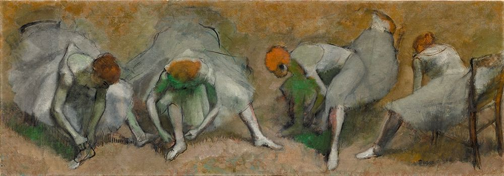 konfigurieren des Kunstdrucks in Wunschgröße Frieze of Dancers von Degas, Edgar