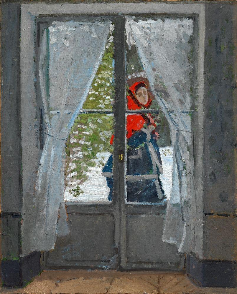 konfigurieren des Kunstdrucks in Wunschgröße The Red Kerchief von Monet, Claude