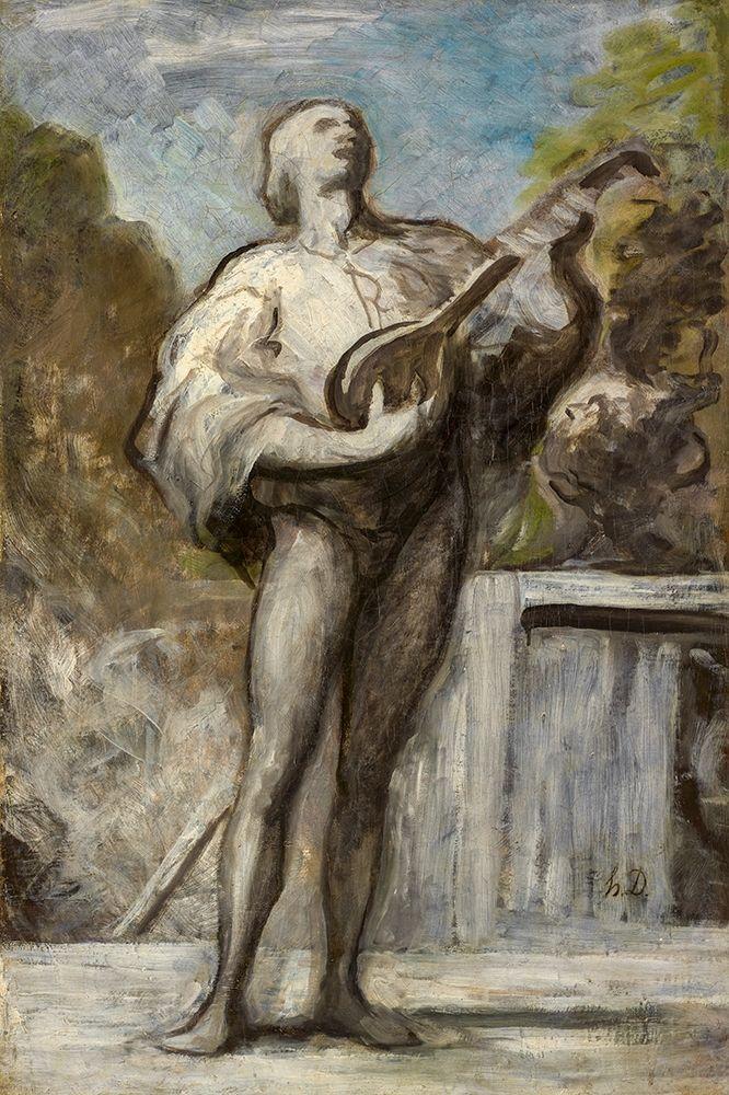 konfigurieren des Kunstdrucks in Wunschgröße The Troubadour von Daumier, Honore