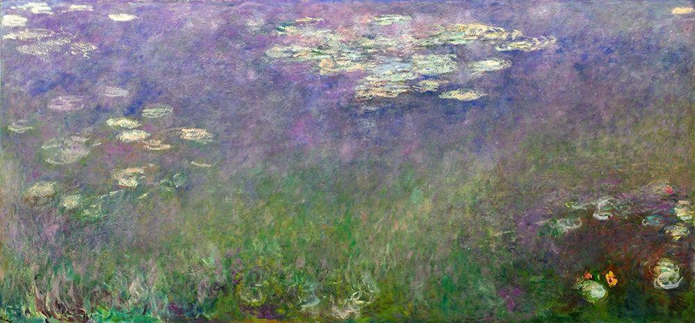 konfigurieren des Kunstdrucks in Wunschgröße Water Lilies Agapanthus von Monet, Claude