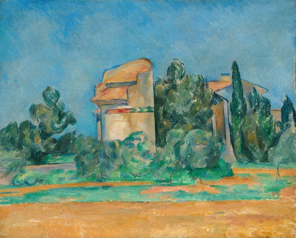 konfigurieren des Kunstdrucks in Wunschgröße The Pigeon Tower at Bellevue von Cezanne, Paul