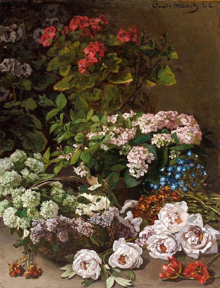 konfigurieren des Kunstdrucks in Wunschgröße Spring Flowers von Monet, Claude