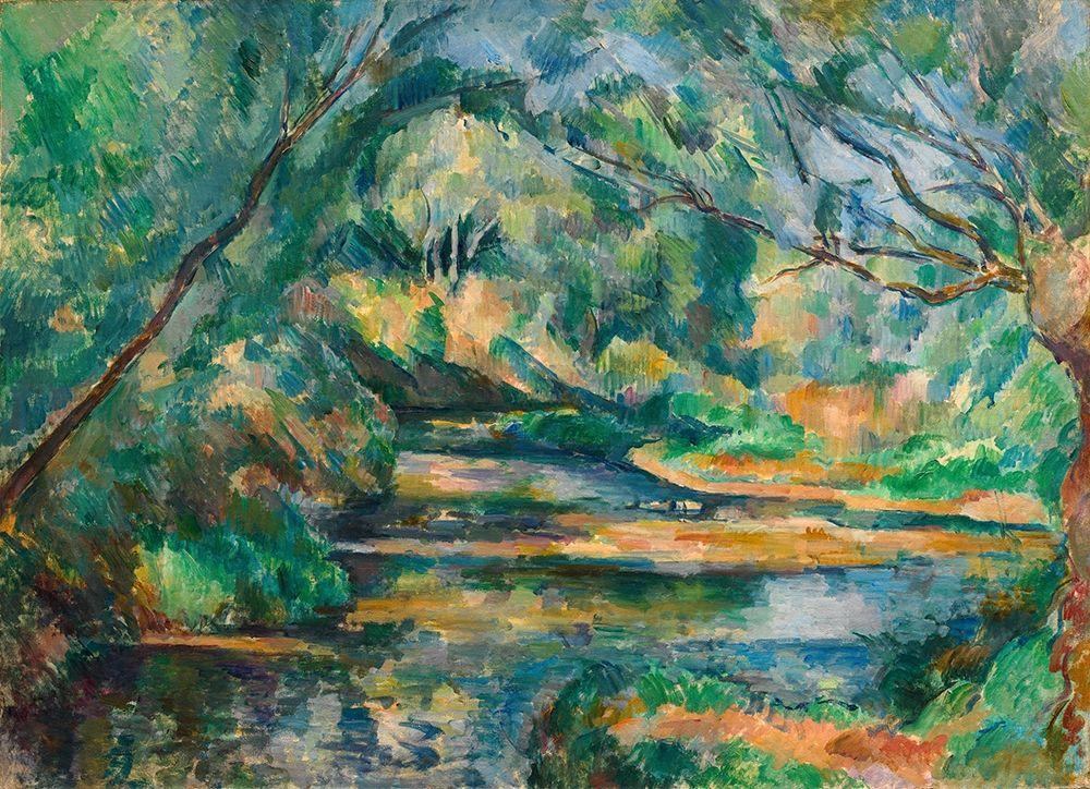 konfigurieren des Kunstdrucks in Wunschgröße The Brook von Cezanne, Paul