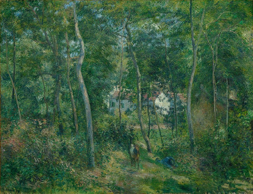 konfigurieren des Kunstdrucks in Wunschgröße Edge of the Woods Near LHermitage Pontoise von Pissarro, Camille