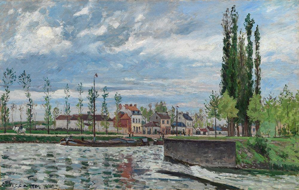 konfigurieren des Kunstdrucks in Wunschgröße The Lock at Pontoise von Pissarro, Camille