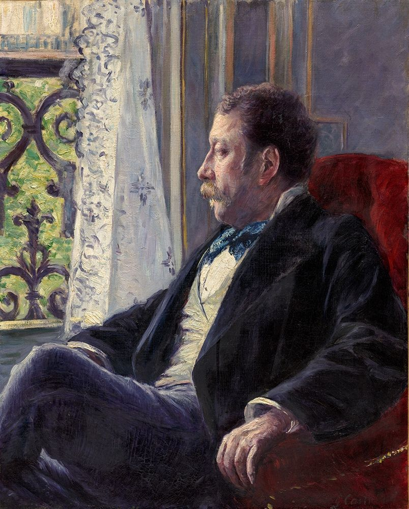 konfigurieren des Kunstdrucks in Wunschgröße Portrait of a Man von Caillebotte, Gustave