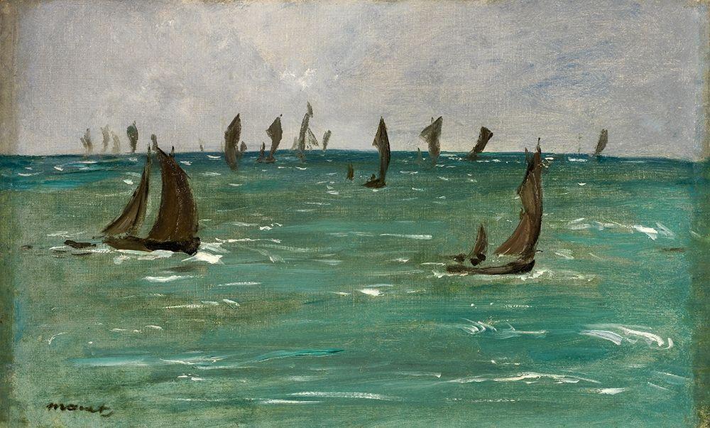 konfigurieren des Kunstdrucks in Wunschgröße Boats at Berck-sur-Mer von Manet, Edouard