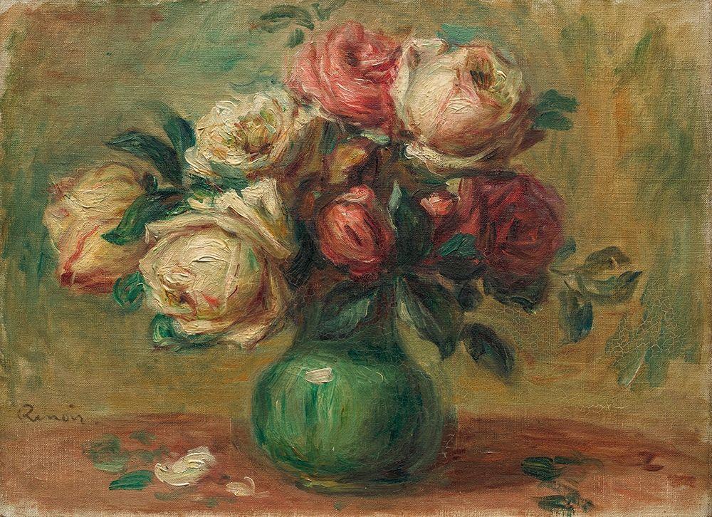 konfigurieren des Kunstdrucks in Wunschgröße Roses in a Vase von Renoir, Pierre-Auguste