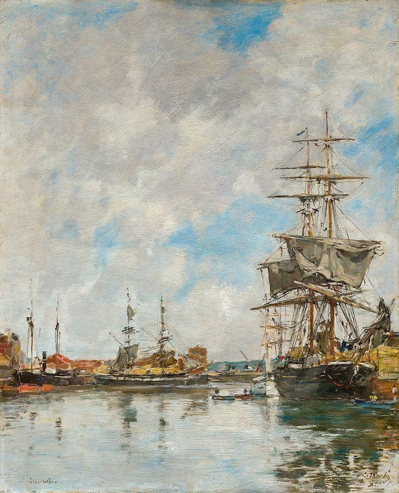 konfigurieren des Kunstdrucks in Wunschgröße The Dock of Deauville von Boudin, Eugene