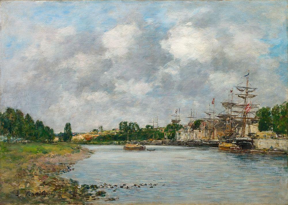 konfigurieren des Kunstdrucks in Wunschgröße View of the Port of Saint-Valery-sur-Somme von Boudin, Eugene