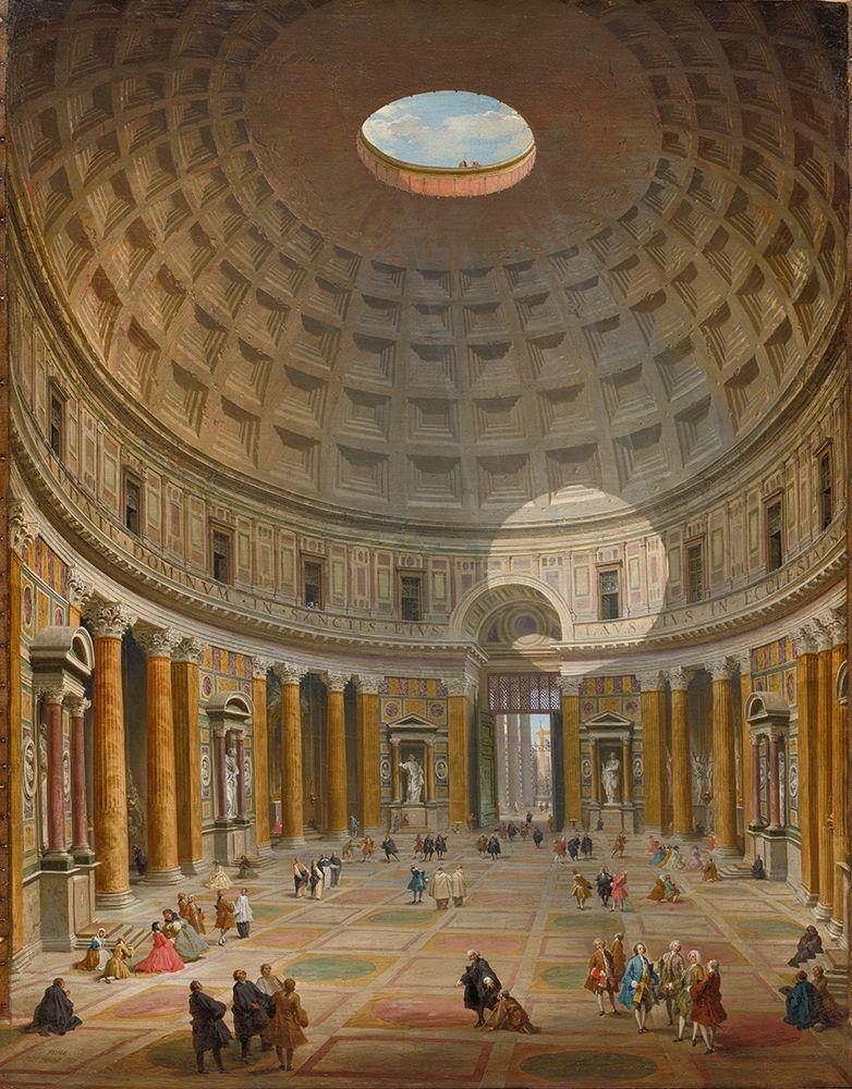 konfigurieren des Kunstdrucks in Wunschgröße Interior of the Pantheon, Rome von Panini, Giovanni Paolo