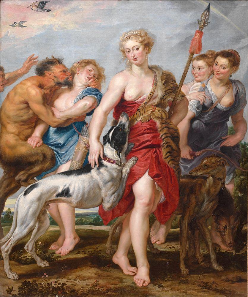 konfigurieren des Kunstdrucks in Wunschgröße Diana and Her Nymphs Departing for the Hunt von Rubens, Peter Paul